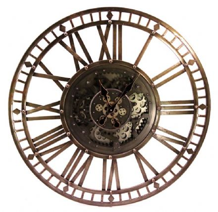 Full Skeleton Cogs Wall Clock